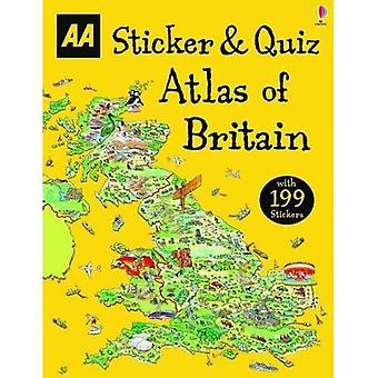 Naklejka idealna Quiz Atlas Wielkiej Brytanii (książki działalności)