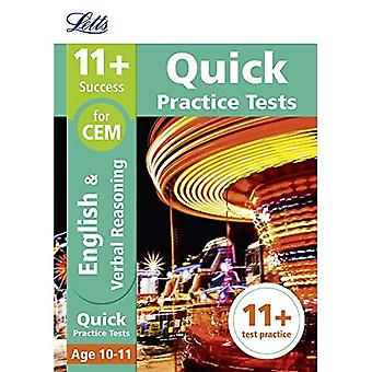 Letts 11+ Success - 11+ Verbal Reasoning Quick Practice Tests: for the CEM tests: Age 10-11