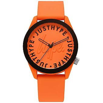 Hype | Mens | Oranje siliconen band | Oranje Dial | HYU023O Watch