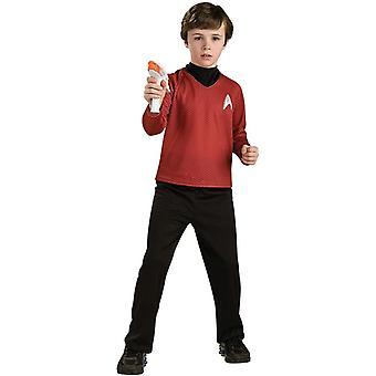Fantasia de criança vermelho de Star Trek