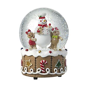Heaven Sends Gingerbread Design Snowglobe
