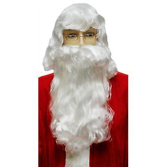 Joulupukin parta asetettu valkoinen