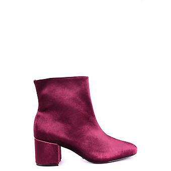 Schutz Ezbc080005 Women's Burgundy Velvet Ankle Boots