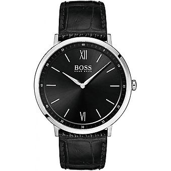 Hugo Boss 1513647 - watch læder sort mand