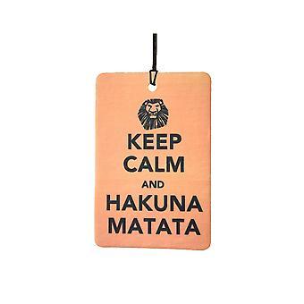 Bewahren Sie Ruhe und Hakuna Matata Auto Lufterfrischer