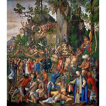 Męczeństwo 10000 chrześcijan,Albrecht Durer,50x44cm