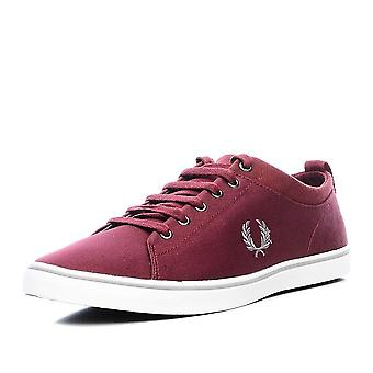 Fred Perry Men's Hallam Twill Canvas Trainers B7483-106