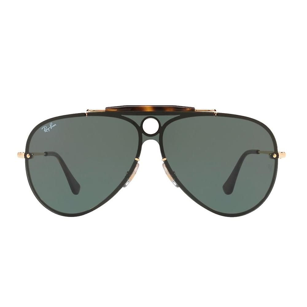 Ray Ban Sunglasses Rb3581n 001/71 32 Blaze Gold And Green Shooter Unisex Sunglasses