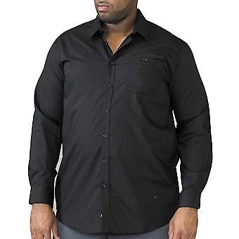 Hertog Mens Corbin Kingsize klassieke reguliere Shirt met lange mouwen