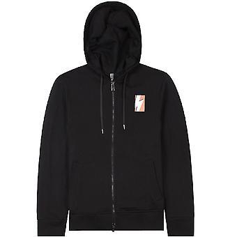 Neil Barrett Thunderbolt hoodie zwart