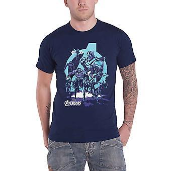 المنتقمون نهاية اللعبة تي قميص ثانوس القفاز قبضة شعار الفيلم الرسمي ة الجديدة الرجال