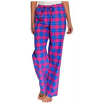 British Boxers Tartan Two Fold Flannel Pyjama Trousers - Pink/Blue