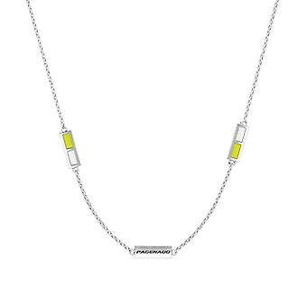 Simon Pagenaud Sterling Silver Engraved Triple Station Necklace In Yellow & White