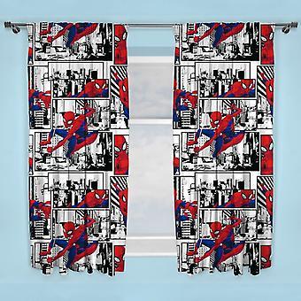 スパイダーマン メトロポリス スパイダーマン カーテン 168cm x 183cm