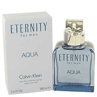 Eternity Aqua By Calvin Klein Eau De Toilette Spray 3.4 Oz (men) V728-465808