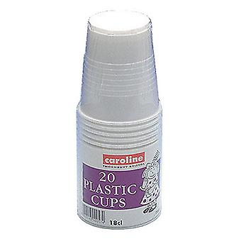 Caroline Plastic Cups (Pack Of 240)