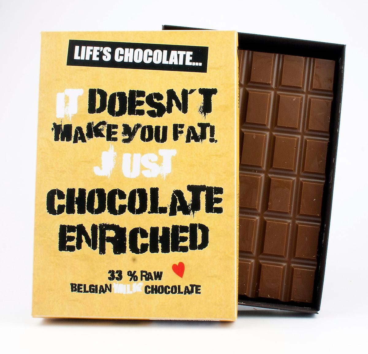 Funny Boxed Chocolate Quote Gift For Men Women Best Friend Greeting Card for Him or Her LC116