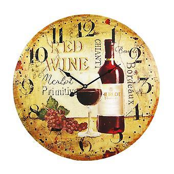 Мотив вина 23-дюймовый диаметр стены часы виноградник