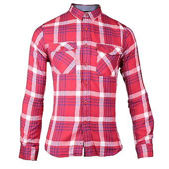 CAT Lifestyle Mens 2611093 Tango Long Sleeve Shirt Rood