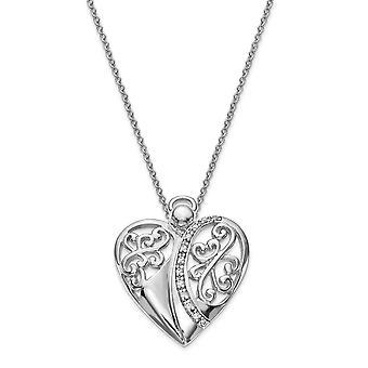 925 Sterling Zilver gepolijst Gift Boxed Spring Ring Rhodium verguld CZ Cubic Zirconia Gesimuleerde Diamond Religieuze Guardia
