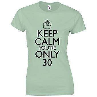 30. Geburtstagsgeschenke für Frauen Ihre Halten ruhig 30. T-Shirt