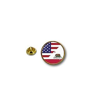 Pine Pines Pin Badge Pin-apos;s Metal Biker Biker Flag USA USA California