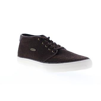 Lugz Rivington Mid Mens Brown Canvas Low Top Lace Up Sneakers Shoes