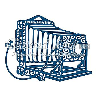 Old Fashioned Camera: Tattered Lace Metal Die Paper Card Stephanie Weightman