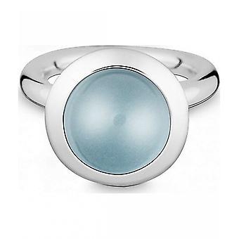 Quinn-zilveren ring met blauwe Topas-021894658