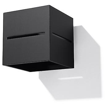 Sollux LOBO 1 Light Up Down Wall Light Black SL.0204
