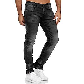 Pantalon sain homme Pantalon classique En denim Slim Utilisé régulièrement Waist Bottoms L34