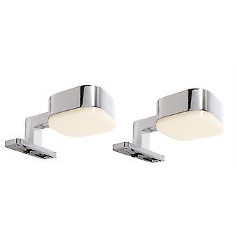 LED Mirror Lamp Mounted Lamp Cursa Set of 2 Set 5 W 50x88,5x43 mm 2700 K silver IP20