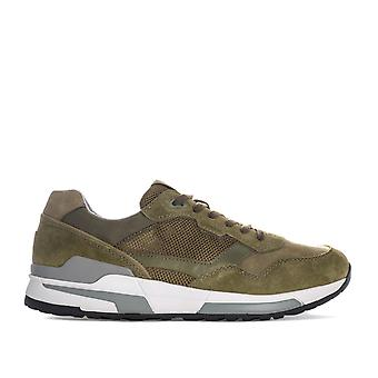 Mens Geox Goometer Trainers In Green- Lightweight, Super-Breathable Sneaker,