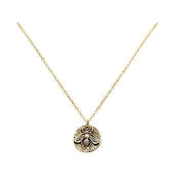 Gemshine BIENE halssmykke mynt anheng i 925 sølv, gullbelagt eller Rose