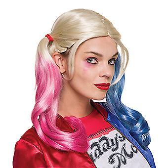 Harley Quinn Suicide Squad Perücke für Erwachsene