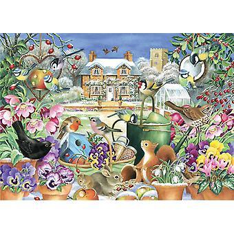 Falcon Deluxe Winter Garden Jigsaw Puzzle (1000 Pieces)