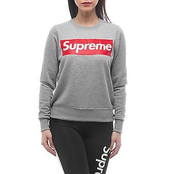 Grey Sweatshirt Supreme Grip Women