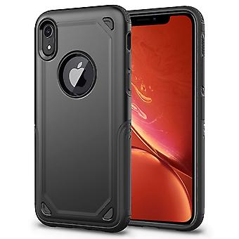 Shockproof Rugged Armour Protective Case For iPhone XR,Black