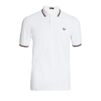 Polo Fred Perry Twin Tipped FP Shirt Blanc