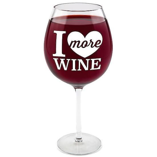 Bigmouth i love more wine gigantic wine glass