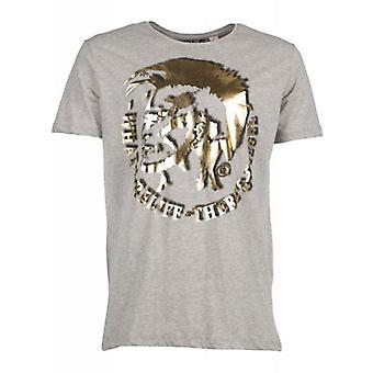 Diesel T-shirt T-Mohican grå gull