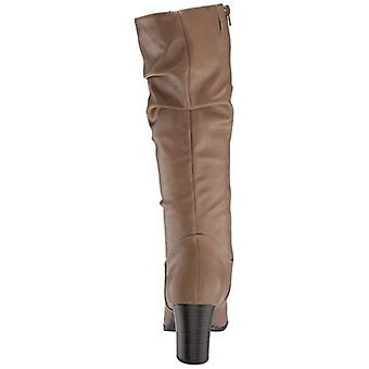 Easy Street Women's Tessla Mid Calf Boot Taupe 7.5 XW US