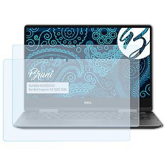 Bruni 2x Skærmbeskytter kompatibel med Dell Inspiron 13 7000 7386 Beskyttelsesfilm