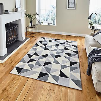 Vancouver 18214 Grey Black  Rectangle Rugs Modern Rugs