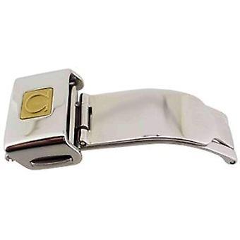 Authentieke omega horloge band inzet sluiting 16mm ss, omega 94531603, gp logo