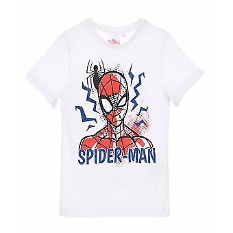 T-shirt Spiderman  Vit, Spindel