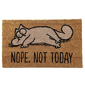 Simon's cat doormat NOPE, emergency TODAY Brown, printed from coconut fibre, bottom made of PVC.