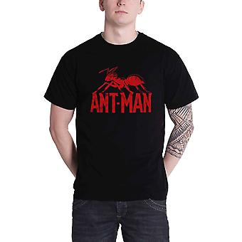 ANT Man T-paita logo virallinen Marvel Comics Mens New Black