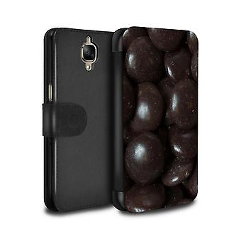 STUFF4 PU Leather Wallet Flip Case/Cover for OnePlus 3/3T/Minstrels/Sweets & Candy