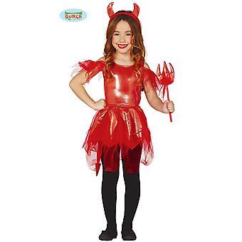 Guirca Teufelin Kostüm Kleid für Mädchen Halloween Karneval Dämonin